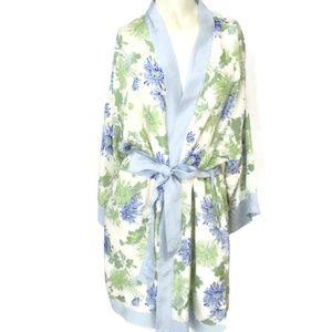 Anthropologie Eloise Silk Kimono Robe Small Medium